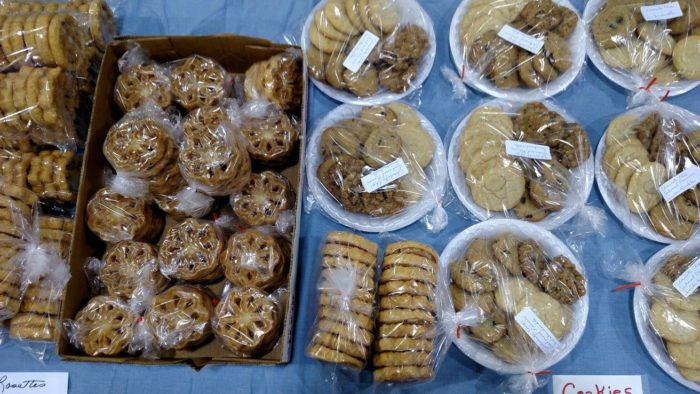 ...Or made-from-scratch treats - all of that and more are available at this flea market.
