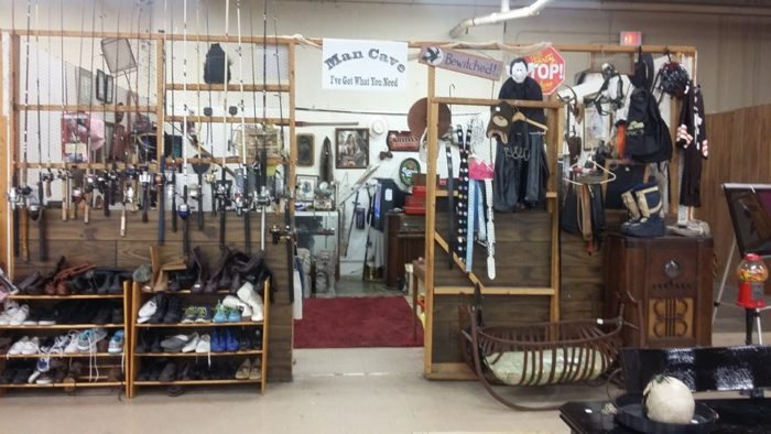 """In addition to their regulars, the flea market also rents out temporary booths and spaces to those wanting to have their """"garage sale rain or shine... or 100 degree temps!"""""""