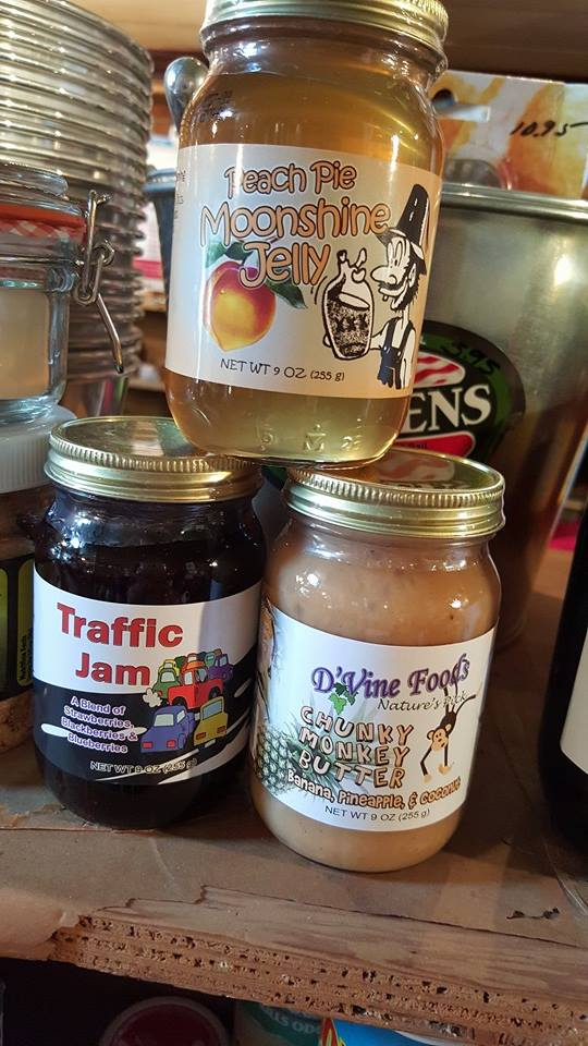 You can find a wide array of goods from jams and jellies to unique snacks.