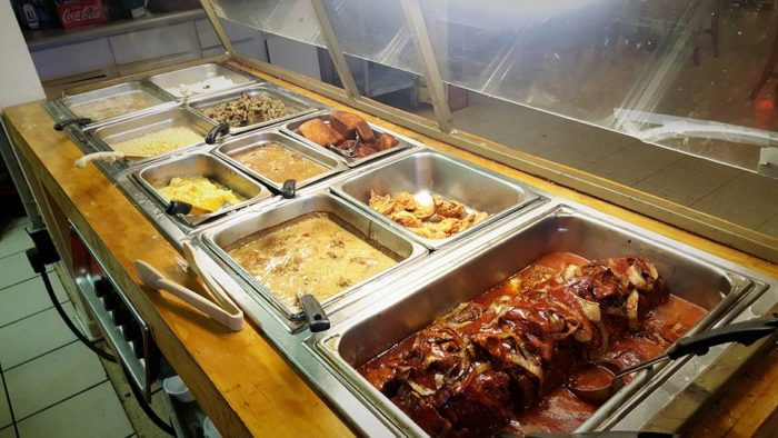 The buffet here is amazing. You can have all you can eat BBQ with all of the amazing sides.