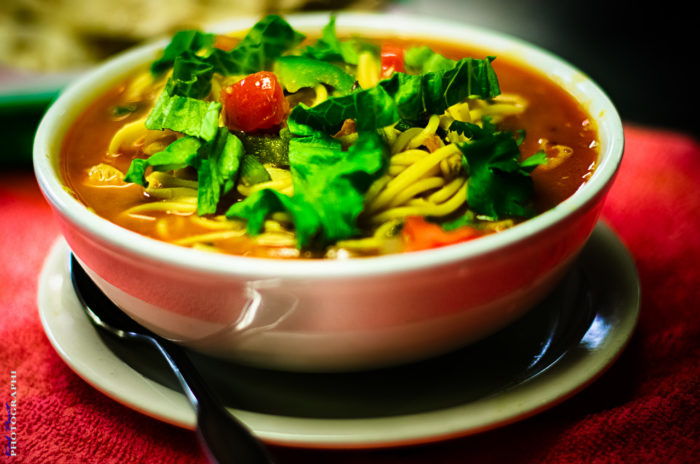 Though the dining room may be haunted, Yak and Yeti serves up some delicious Nepalese food there.
