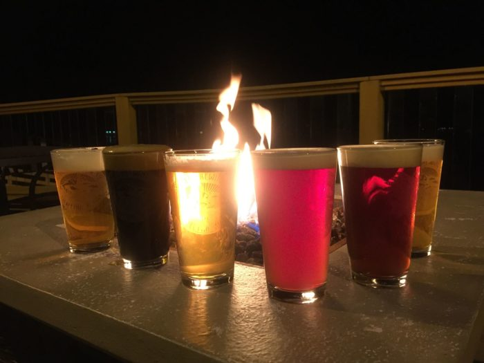 Enjoy a delicious dinner and a round of drinks around the outdoor fire pit.