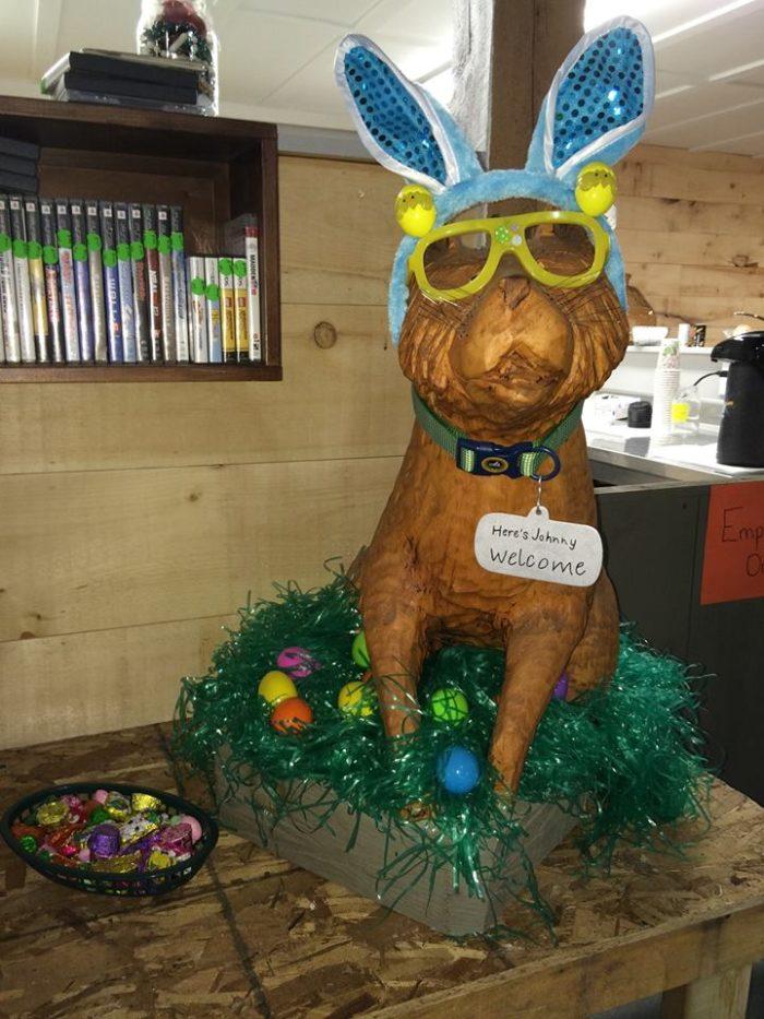 Johnny loves Easter!