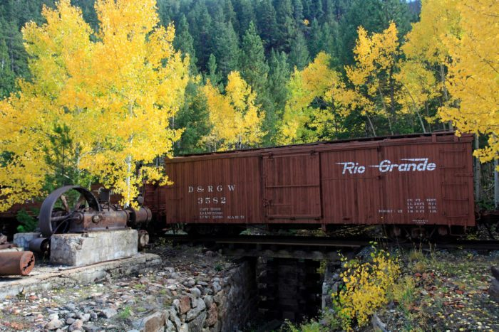"""According to their website, the Georgetown Loop Railroad Fall Colors ride allows guests the chance to """"enjoy the changing of the leaves as you wind through the aspen-filled Rockies between Georgetown and Silver Plume."""""""