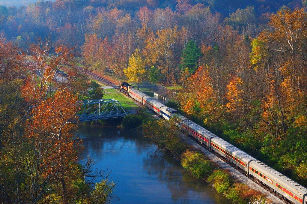 Fall Foliage Train Ride In Ohio At The Cuyahoga Valley