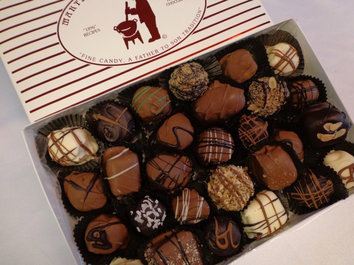 . . . to boxes of assorted chocolates . . .