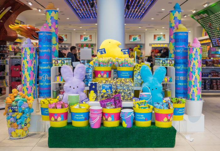 The festive displays inside the store change often depending on the season. It's a Peep lover's paradise.