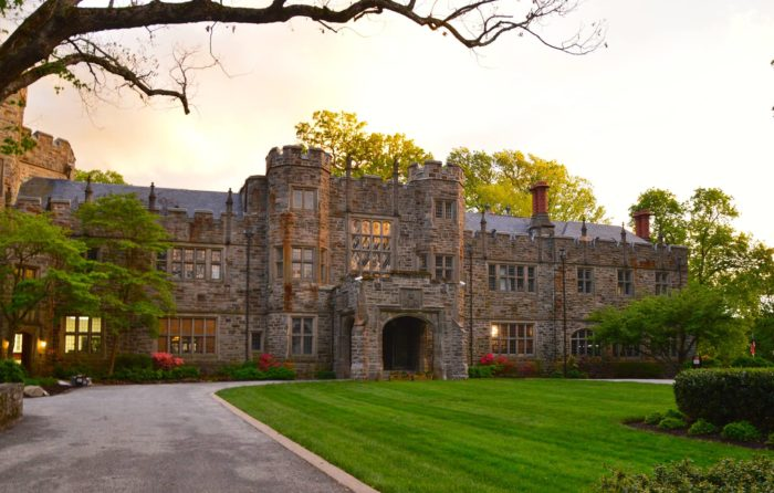 Located in Lutherville, you'll find the historic and immensely charming Maryvale Castle.