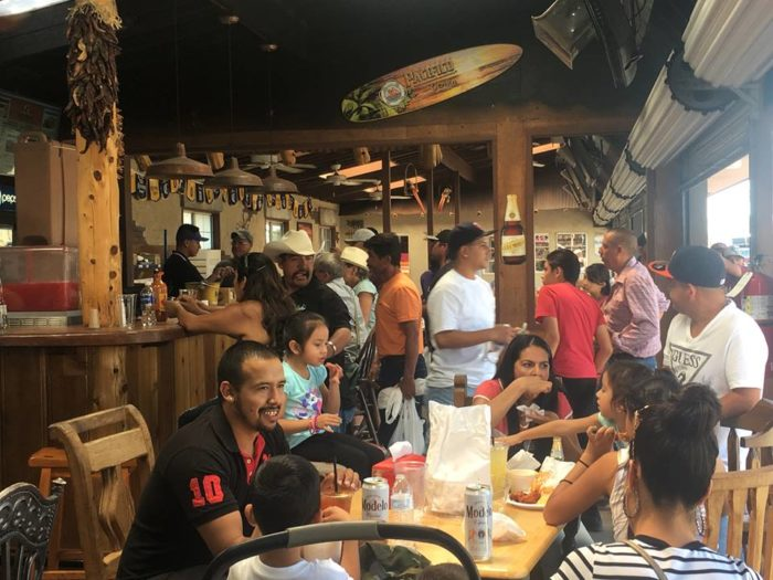 Grab a quick and easy bite at one of the many food stands or sit down and lounge at one of the full-service restaurants.  Cactus Cantina (seen here) serves ice cold beer and has 6 big screens where you can watch the big game.