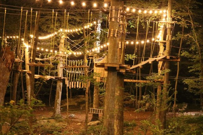 7. Complete the course at Fields Of Fire Adventure Park.