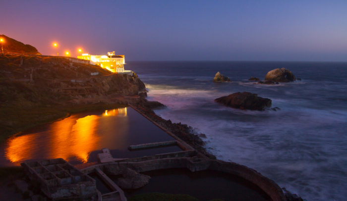 On March 14, 1896, the Sutro Baths were opened to the public.