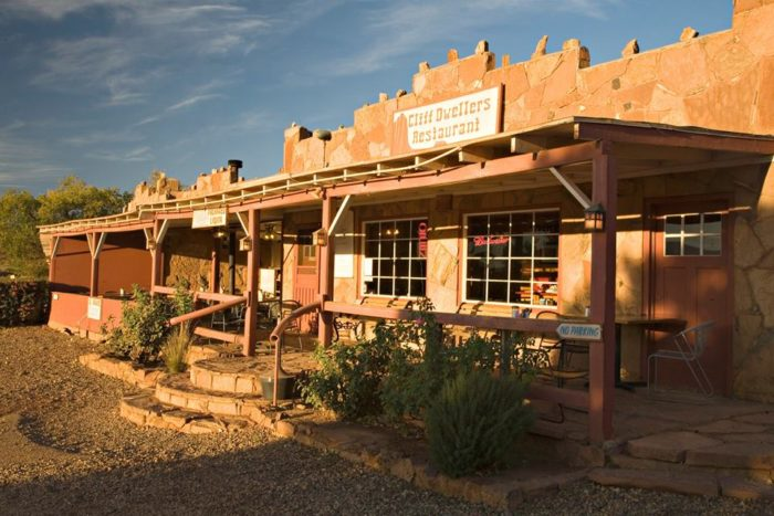 """It's worth mentioning that Cliff Dwellers was named one of the best restaurants in the state in 2013 by Arizona Highways, one of ten selected that year. The writer mentioned being """"shocked by the sophistication of the food,"""" so you know this isn't just going to be a random spot to grab a burger and fries."""