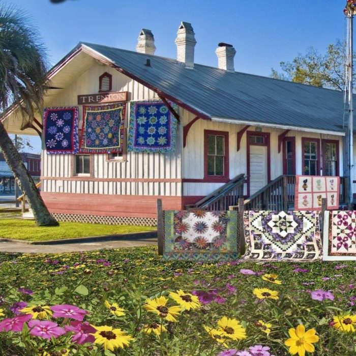 The Trenton Suwannee Valley Quilt Festival is arguably the event of the year (held in March), and the historic Wade Building (a 1910 dry goods store) houses the Florida Quilt Museum.
