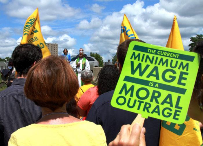 8. The minimum wage.