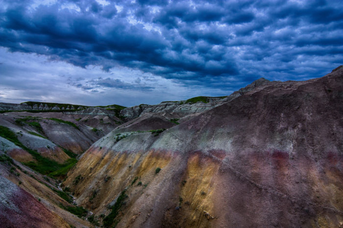 8. The rainbow of colors that make up the formations in the badlands