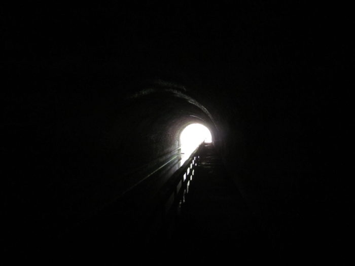 If you want to explore the tunnel yourself, make sure to bring a flashlight, as this 3,118-foot long structure is quite dark inside.