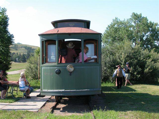 You can take a nine mile round trip, or have the trolley drop you off where you can visit the historical points of interest within the park.
