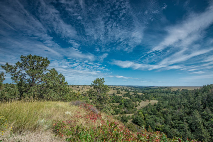 Fort Niobrara National Wildlife Refuge is located near Valentine and encompasses more than 19,000 acres.