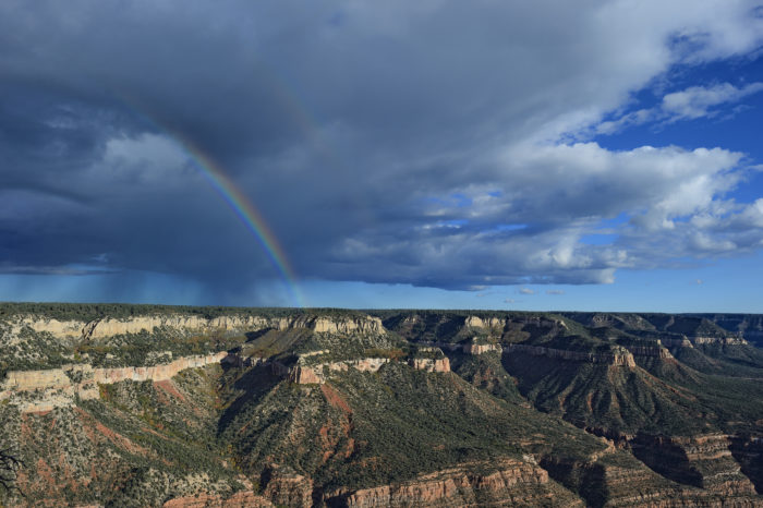 The North Rim of the Grand Canyon is just across the border.