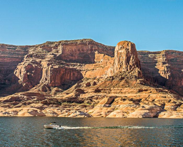 Head to Lake Powell for some boating fun.