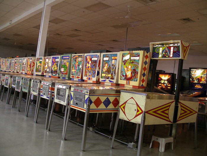 Games at the Pinball Hall of Fame have all been restored to like-new playing condition.