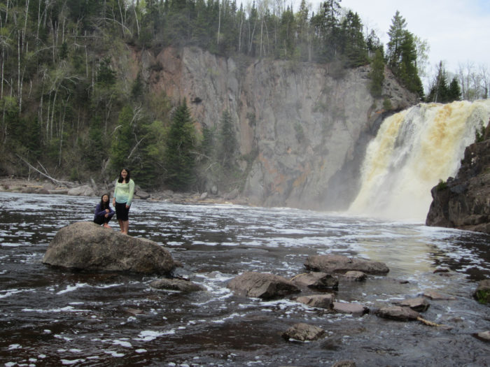6. The high falls at Tettegouche State Park.
