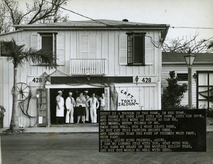 Ernest Hemingway was a regular back in the 1930s, when this was the home of the original Sloppy Joe's, that moved around the corner the owner had a dispute with the landlord. This space has also been used as a telegraph station, cigar factory, and several speakeasies.