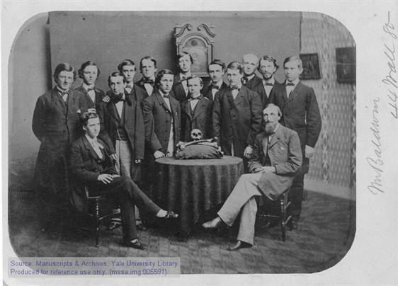 Here you see a photo of the Skull and Bones Class of 1861.