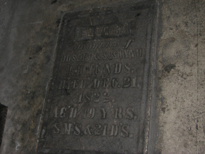 Skeletal remains and the headstone of a woman named Elvira were found under the plywood floors. Her headstone remains in the bar.
