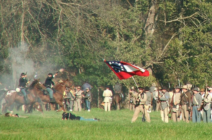 The battle lasted two days in 1862, March 6th through March 8th.