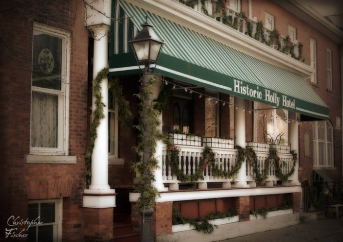 "During the early 20th century, the hotel was known as a ""social hub"" for travelers coming through the town by train."