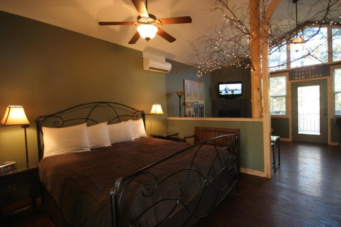 The interiors of the treehouses are all put together with an eye for the details of comfort.