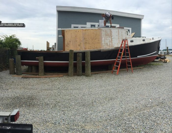 It started as a 1974 Bruno & Stillman 42' Commercial Lobster Boat.