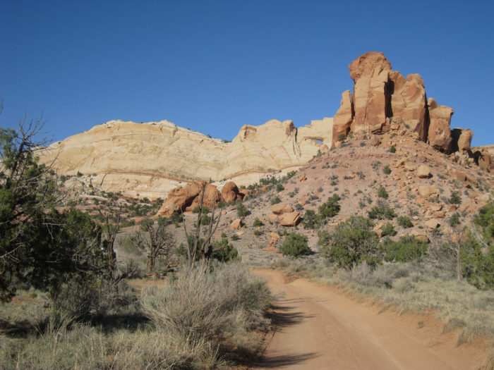 The Burr Trail In Utah Is A Winding Road That Offers