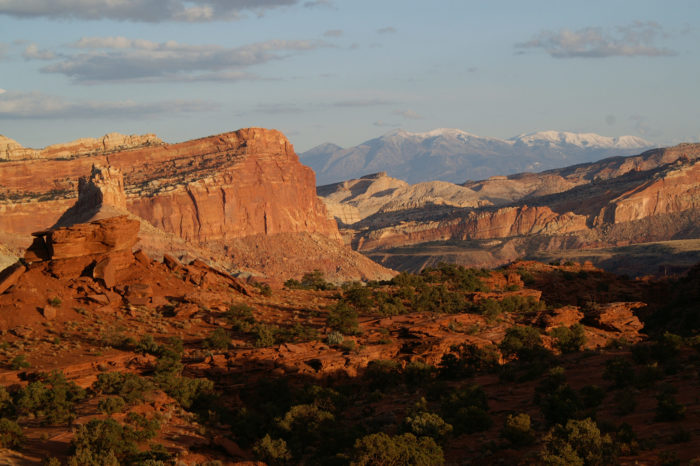 The road offers some beautiful views of the Henry Mountains and Capitol Reef.