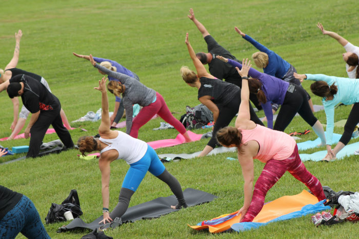 1. Stretch it Out With Some Yoga in the Park