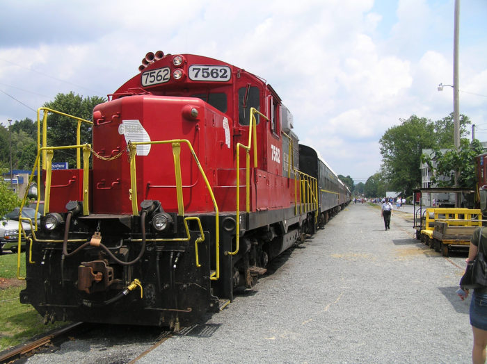 One of the more magical attractions in this small town is riding the trains  on the Blue Ridge Scenic Railway.