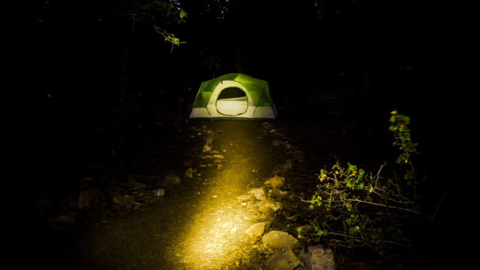 If you're brave enough to camp at Lums Pond, take refuge in your tent when it gets dark. As you tuck in, you'll hear the wind whistling through the trees. You might hear something (or someone) walk through your camp. And then, just as you drift off to sleep, you might hear a young girl scream.