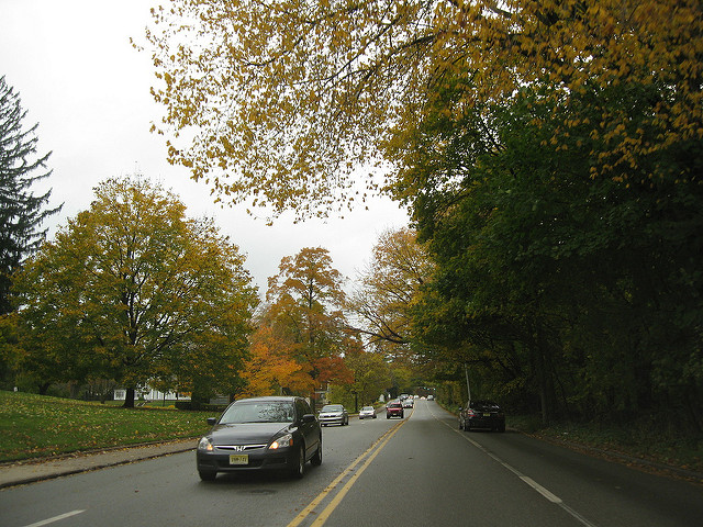 US Route 30 from Ligonier to Latrobe (or vice-versa) will take you past quaint farmland, rolling hills, and colorful trees preparing to shed their leaves.