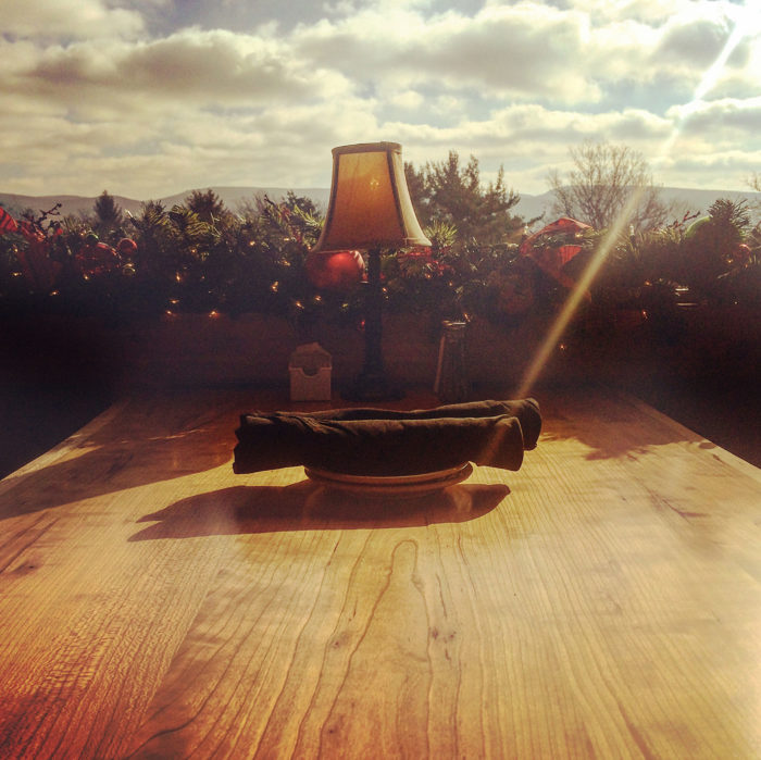 Feel the golden autumn sunshine wash over you when you sit on the deck, which is open when the weather allows.