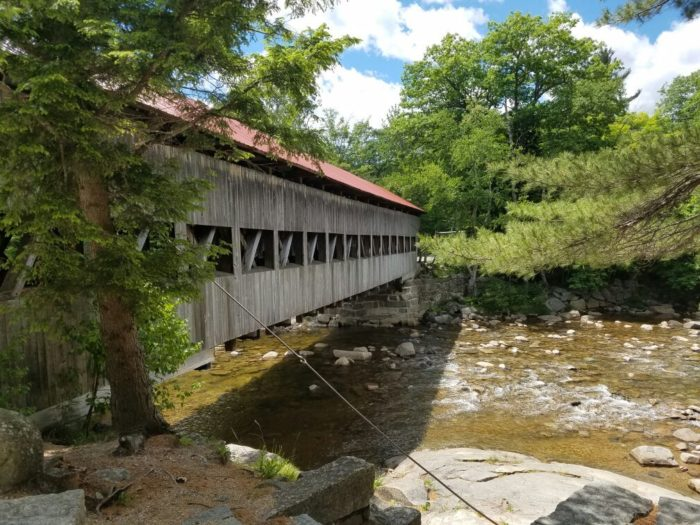 The scenic drive will take you across beautiful covered bridges and even bring you right near beautiful waterfalls.