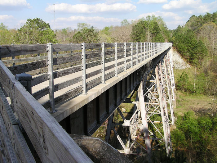 Throughout the entire trail, you'll see some of the most beautiful parts of the state, while also experiencing the quiet serenity from the abandoned railroad tracks underfoot.