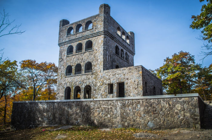 8. Visit the tower that sits atop Mount Carmel in Hamden's Sleeping Giant State Park.