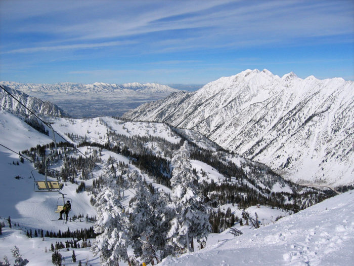 10. The view from the top of Utah's ski resorts.