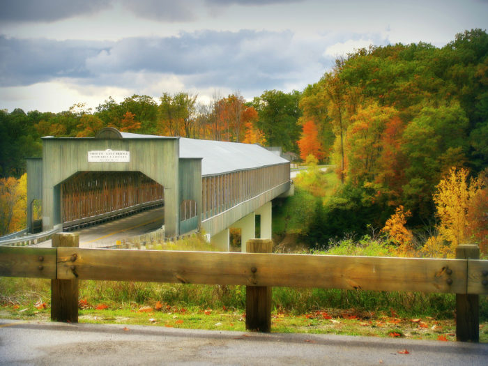At the Plymouth and Ashtabula Township line in northern Ashtabula County, you'll find America's longest covered bridge.
