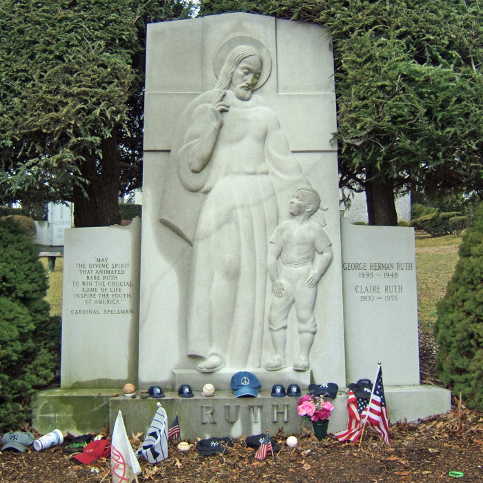 2. Babe Ruth - Gate of Heaven Cemetery, Mount Pleasant