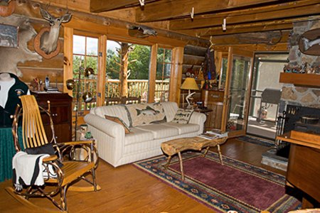 Truly a Vermont log cabin like no other.