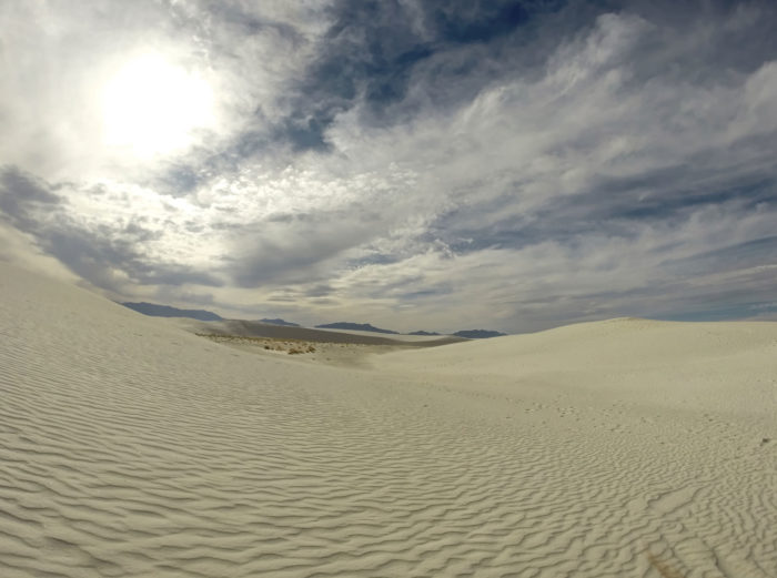 15. Let your feet sink into the dunes at White Sands National Monument.