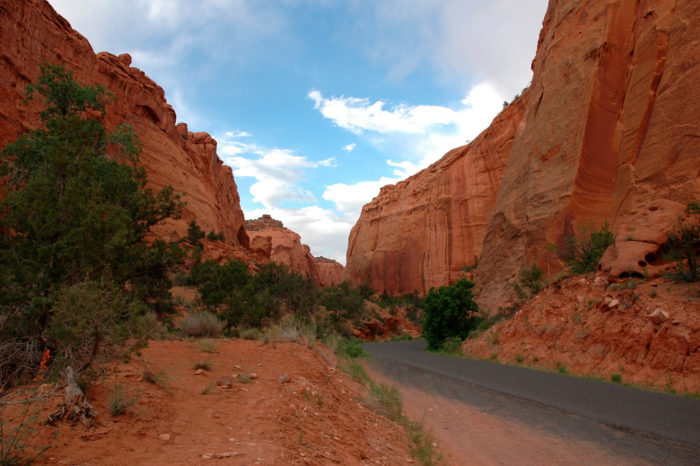 The paved portion stretches from Boulder to Capitol Reef National Park.