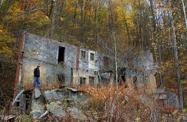 Kayford was a coal mining community that has mostly been abandoned.